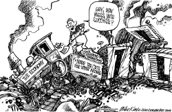 Train Wreck Stimulus by Mike Keefe
