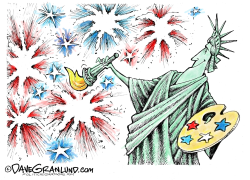 July 4th painter  by Dave Granlund