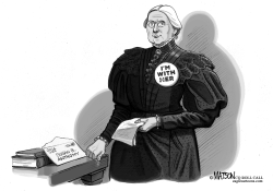 Susan B Anthony Receives A Letter From The Future by RJ Matson