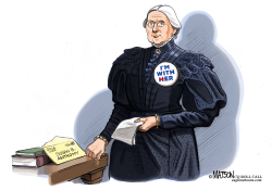 Susan B Anthony Receives A Letter From The Future- by RJ Matson