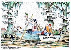Baton Rouge under water  by Dave Granlund