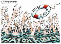 Baton Rouge disaster  by Dave Granlund
