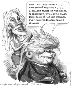 Trump and Conway by Taylor Jones