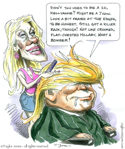 Trump and Conway -  by Taylor Jones