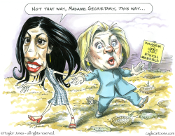 Huma and Hillary -  by Taylor Jones