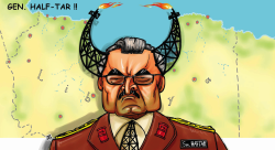 Gen Haftar of Libya by Emad Hajjaj