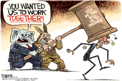 Obama Veto Override  by Rick McKee