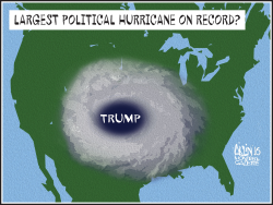 Hurricane Trump by Aislin