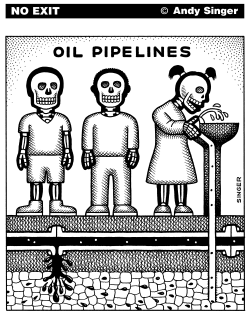 Oil Pipelines by Andy Singer