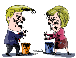 Trump vs Hillary by Arcadio Esquivel