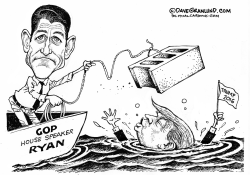 Ryan vs Trump 2016  by Dave Granlund