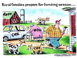 Hunting season ready  by Dave Granlund