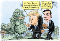 Trump and the Swamp  by Daryl Cagle