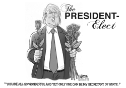 The President Elect Selects A Secretary of State by RJ Matson
