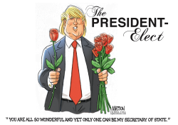 The President Elect Selects A Secretary of State- by RJ Matson