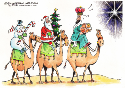 Secular vs non-secular Christmas  by Dave Granlund