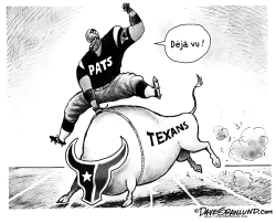 Patriots vs Texans deja vu by Dave Granlund