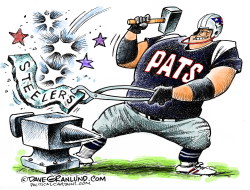 Patriots vs Steelers  by Dave Granlund