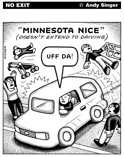 Minnesota Nice Driving by Andy Singer