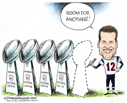 Tom Brady wants 5th  by Dave Granlund