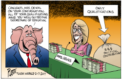 Devos Qualifications by Bruce Plante