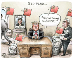 Red flags  by Adam Zyglis
