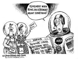SpaceX lunar tourists by Dave Granlund