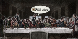 Leonardo Last Supper Easter Jesus Christian by Sean Delonas