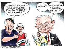 Jeff Sessions and Hawaii  by Dave Granlund
