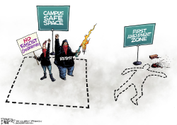 Campus Protests by Nate Beeler