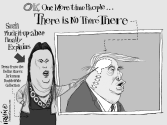 There Is No There There by Trevor Irvin,  PoliticalCartoons.com