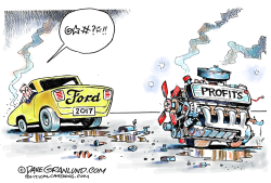 Ford profits drop  by Dave Granlund