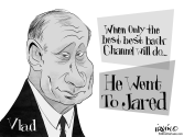 He Went To Jared by Trevor Irvin,  PoliticalCartoons.com