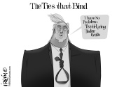 The Ties That Bind by Trevor Irvin,  PoliticalCartoons.com