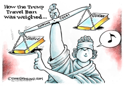 Trump Travel Ban and SCOTUS  by Dave Granlund