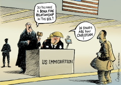 The Supreme Court and Trump's Travel Ban by Patrick Chappatte