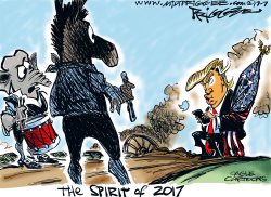 The Spirit of 2017 by Milt Priggee