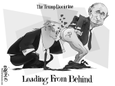 Trump-Leading From Behind by Trevor Irvin,  PoliticalCartoons.com