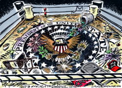 Presidential Boxing Ring by Milt Priggee