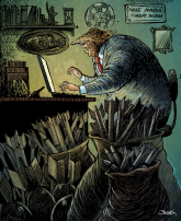 Trump Working Away by Dario Castillejos, Diario La Crisis