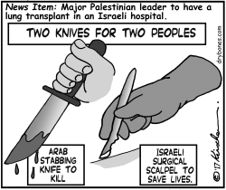 2 Knives for 2 Peoples by Yaakov Kirschen