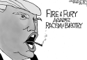 Trump Fire and Fury on Racism by Jeff Darcy, Cleveland.com
