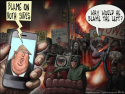 Charlottesville Trump Antifa Riot by Sean Delonas, CagleCartoons.com