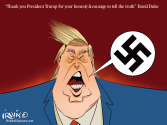 Trump Embraces Fascism by Trevor Irvin,  PoliticalCartoons.com