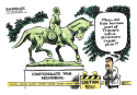 Confederate Memorials color by Jimmy Margulies, Politicalcartoons.com