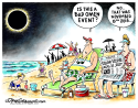 Solar eclipse and omens COLOR by Dave Granlund, Politicalcartoons.com