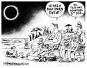 Solar eclipse and omens by Dave Granlund, Politicalcartoons.com