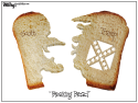 Breaking Bread by Bill Day, Cagle Cartoons