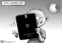 Total Eclipse by Nate Beeler, The Columbus Dispatch