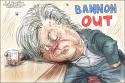 Bannon Out by Ed Wexler, CagleCartoons.com